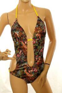 Ecko Women's Swimsuit Monokini Multi Color WithTie Straps Size s