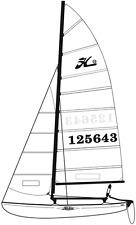 Hobie Cat 16 Main Sail Batten Set