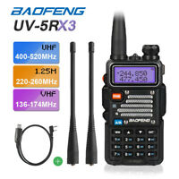 Baofeng UV-5RX3 Tri-Band VHF UHF *UV-5R III Upgraded* Two way Radio + Free Cable