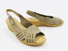 Spring Step Udoban Beige Leather Sandal Women's Size 42 / 10.5-11