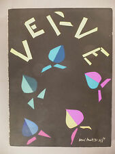 Verve Magazine #8 - September-November, 1940 ~~ Henri Matisse cover