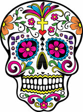 Sugar Skull #18 Sticker Decal - DAY OF THE DEAD ipad computer CAR DECAL