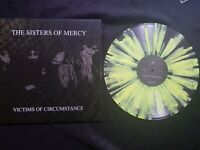 SISTERS OF MERCY VICTIMS YELLOW SPLATTER VINYL LP RARE