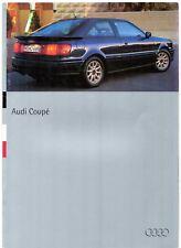 Audi Coupe 1994-95 UK Market Sales Brochure 2.0 16v 2.6E 2.8 Quattro