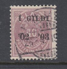 Iceland Sc 58 Black Overprint 40 Aur Lilac Very Fine Used P13