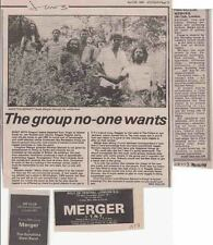 MERGER : CUTTINGS COLLECTION -adverts interview-