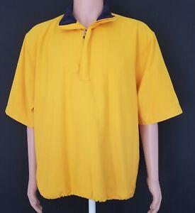 Callaway Golf Outerwear Jacket Mustard Yellow Pullover 1/2 Zip S/S Size M Men's