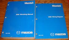 Original 2006 Mazda Mazda5 5 Shop Service Manual + Wiring Diagram Set 06