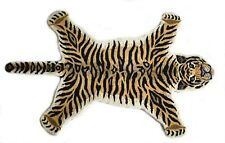 Hand Tufted Wool Carpet Tiger Mat Animal Rug Tiger Skin Area Rug  90'x155' Cm