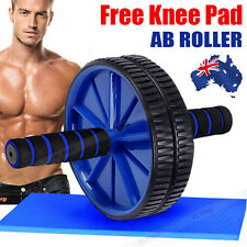 AB Abdominal Waist Workout Exercise Gym Fitness Wheel Roller Wheel free Knee Pad