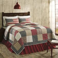 Victory Americana King Size 3 Pc Quilt Set 100% Cotton,Quilt+Shams Patchwork VHC