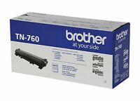 BROTHER TN-760 Black High Yield Toner Cartridge Genuine OEM Original