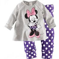 Kids Baby Boys Girls Outfits Clothes T-shirt + Pant Set Pajamas Sleepwear Suit