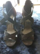 New Look Black heeled sandals Size 6