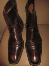 Men's Mercanti Fiorentini Antique Brown leather Side Zip  Boots Sz 9.5 M