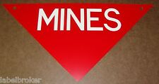 AUTHENTIC METAL SIGN C1970 SURPLUS MINEFIELD WARNING ARMY WARNING MARKER MINE