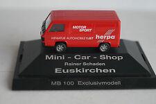 Herpa Modellauto 1:87 H0 MB 100 Exklusivmodell Mini-Car-Shop Rainer Schaden