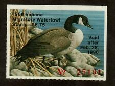 Indiana 1989 Canada Goose Duck IN14