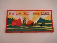 Vintage Patch PALM VII 1988 Tour Michigan Cycling Bicycle Sunrise Dawn Farm Barn