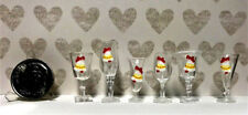 Dollhouse Miniature Glasses #2 - Different Types Decorated for Christmas-Plastic
