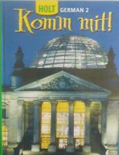 Holt: Komm Mit! German Level 2 High School Student Textbook Like New