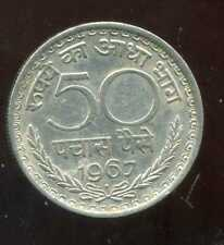 INDE  50   paise 1967