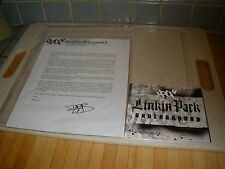 LINKIN PARK UNDERGROUND 3 Limited Edition Fan Club CD & letter