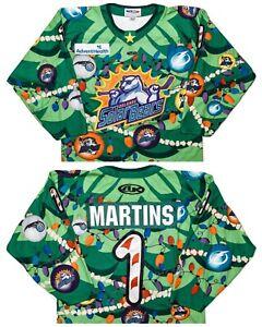 ATHLETIC KNIT Orlando Solar Bears Authentic Hockey Jersey Holiday Team Issue M