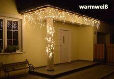 500 LEDs Eiszapfen Lichterkette Eisregen Weihnachtsbeleuchtung IP44 * Warmweiß *