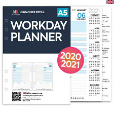 Filofax A5 COMPATIBLE A5 Workday planner organiser refill insert any year