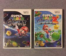 Super Mario Galaxy 1 & 2 Lot! (Wii/Wii U) Complete! Fast Shipping!