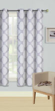 1PC GROMMET PANEL PRINTED LINED BLACKOUT WINDOW CURTAIN CLOUDS IVORY SILVER