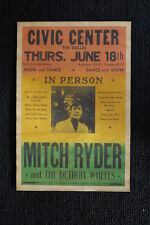 Mitch Ryder and the Detroit wheels Tour poster 70s