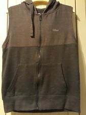 Lee Cooper Sleeveless Hooded Sweat Top - Size M - Grey
