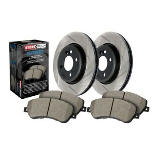 StopTech 937.47501 Street Axle Pack, Slotted, Brake Kit For 05-06 Saab 9-2X NEW