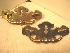 "Vintage pair of brass 6"" drawer pulls"