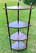 "Vintage Spindle Wood 4 Tier Standing Corner Shelf Wooden Plant Stand 43"""