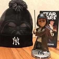 Aaron Judge Star Wars Bobblehead SGA + Darth Vader New York Yankees Ski Hat Cap