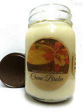Creme Brulee -16 oz Country Jar All Natural Soy Candle - Approx Burn Time 144hrs