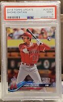 SHOHEI OHTANI 2018 TOPPS UPDATE ROOKIE DEBUT #US285 PSA 9 MINT RC ANGELS QTY