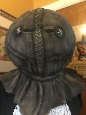 Scarecrow Scary Halloween Mask Latex Burlap One Size Adult, Quality Made