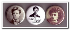ARTHUR RIMBAUD Buttons Pins Bades  french poet poetry decadent Season in Hell