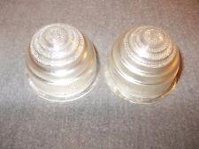 """AUSTIN MINI Triumph Pair FRONT Clear Plastic """"Beehive"""" LENSES"""
