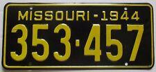 Missouri 1944 License Plate HIGH QUALITY # 353-457