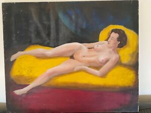 """Old Nude oil painting 24"""" x 20"""" on canvas"""