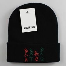 ATCQ Tribe Called Quest Roll Up Black Beanie Hat by Actual Fact