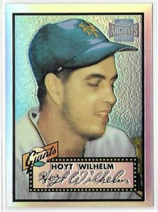 2001 Topps Archives Reserve James Hoyt Wilhelm Rookie Refractor Reprint # 15 392