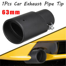 1x DIY Black Stainless Steel Car Exhaust Pipe Tip Tail Muffler Cover Car Styling