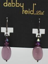 DABBY REID NEW Purple Cats Eye Short Drop Earrings RME4189B Y21