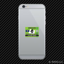 Oregon Bigfoot Hunting Permit Cell Phone Sticker Mobile Sasquatch Lifetime